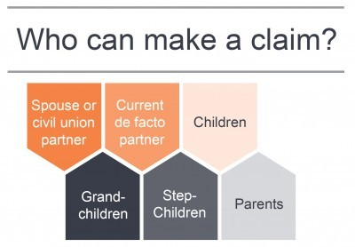 Wills - who can make a claim diagram